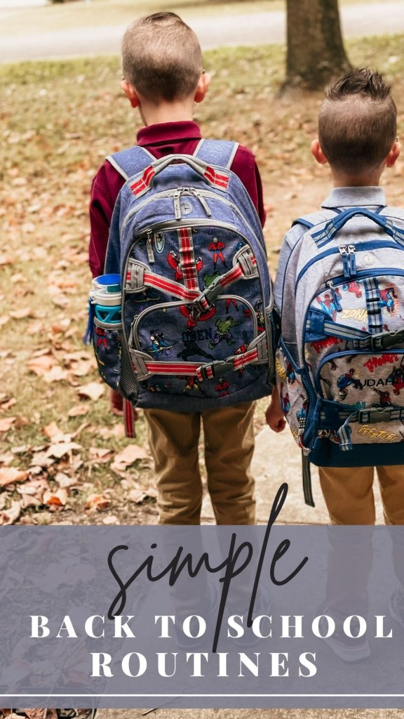 Simple Back To School Routines Pin Image