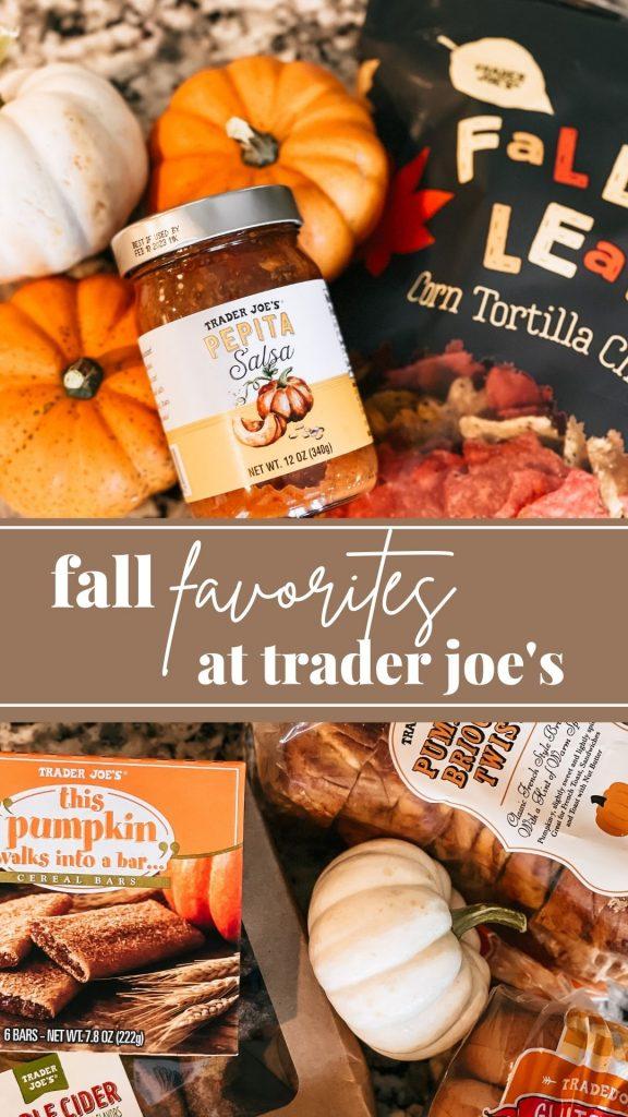 Fall Favorites at Trader Joe's Pin Image